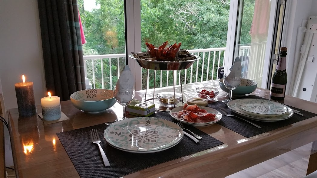 La salle à manger après